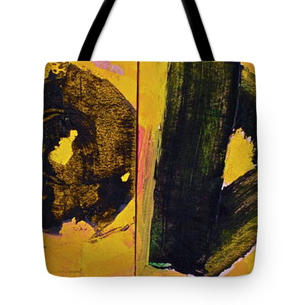 Tote Bag featuring the painting Abstract 2071-diptych by Cliff Spohn