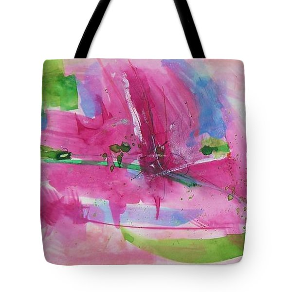 Tote Bag featuring the painting Abstract #219 by Robert Anderson