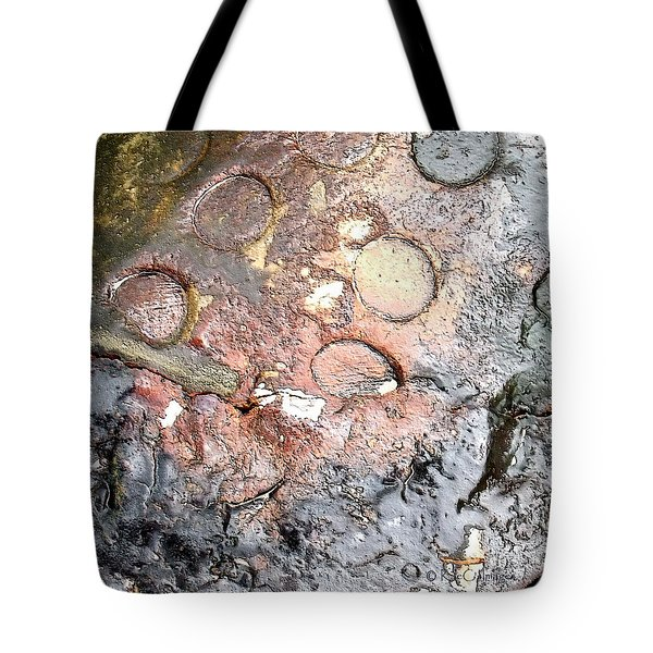 Tote Bag featuring the digital art abstract 2317 Moonscape Pottery by Kae Cheatham