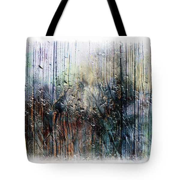 2f Abstract Expressionism Digital Painting Tote Bag