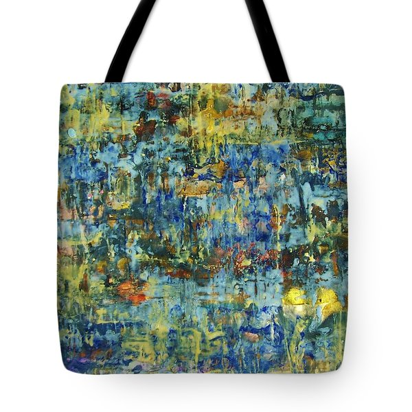 Tote Bag featuring the painting Abstract #329 by Robert Anderson
