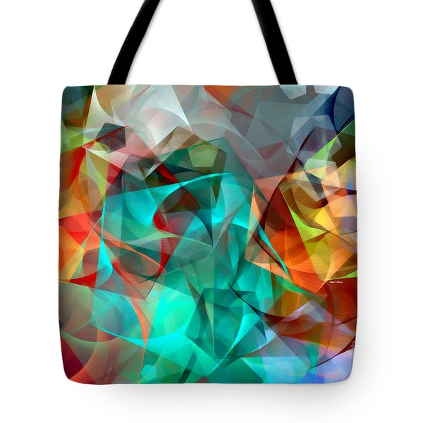 Tote Bag featuring the digital art Abstract 3540 by Rafael Salazar