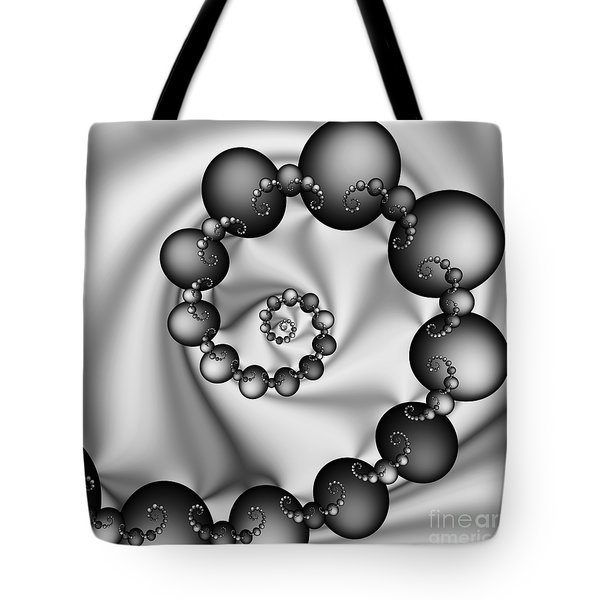 Abstract 537 Bw Tote Bag