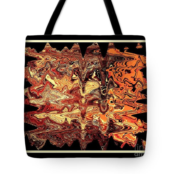 Tote Bag featuring the digital art Abstract 65 by Steve Godleski