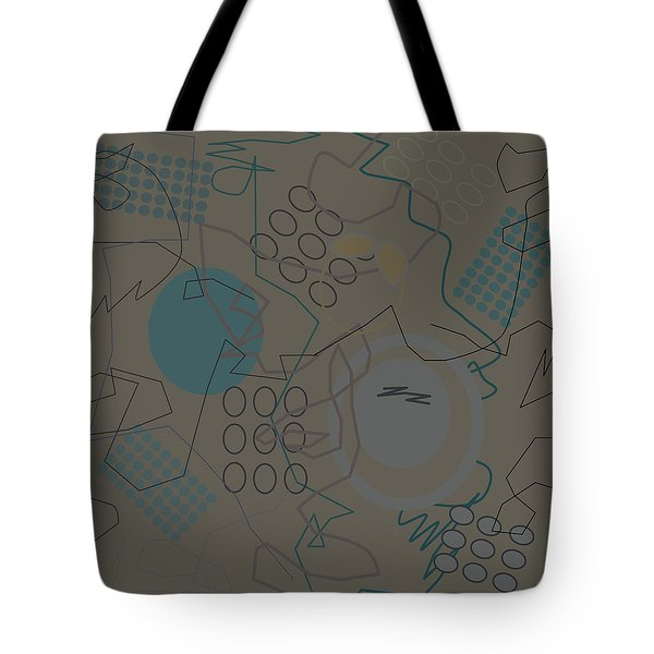 Abstract 8 Brown Tote Bag