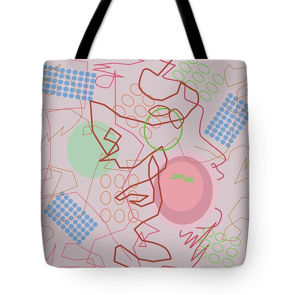 Abstract 8 Pink Tote Bag