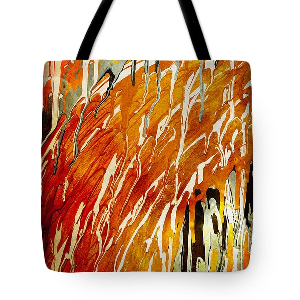 Tote Bag featuring the painting Abstract A162916 by Mas Art Studio