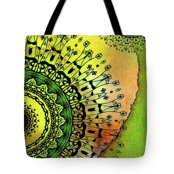 Abstract Acrylic Art The Garden Tote Bag