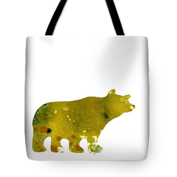 Abstract Acrylic Painting Bear II Tote Bag by Saribelle Rodriguez