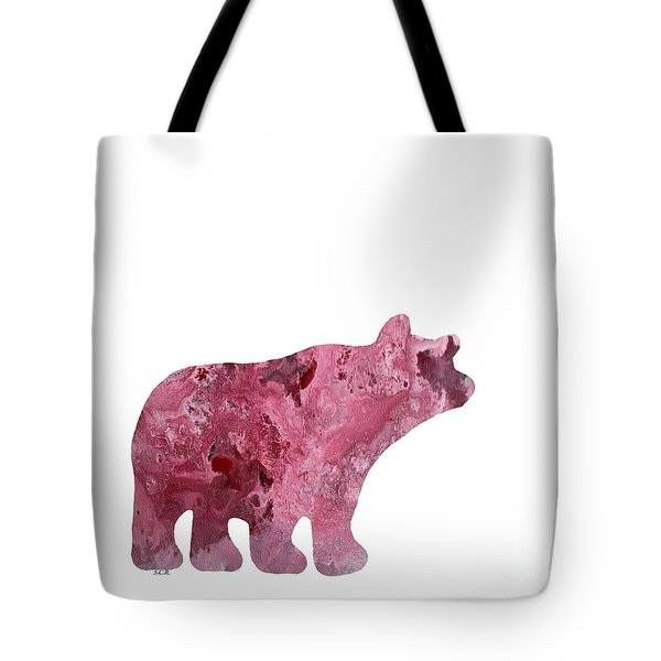 Abstract Acrylic Painting Bear Tote Bag