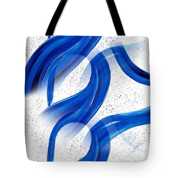 Abstract Acrylic Painting Blues Series 2 Tote Bag by Saribelle Rodriguez