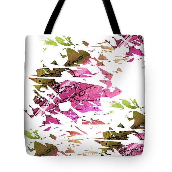 Abstract Acrylic Painting Broken Glass Purple And Green Tote Bag by Saribelle Rodriguez