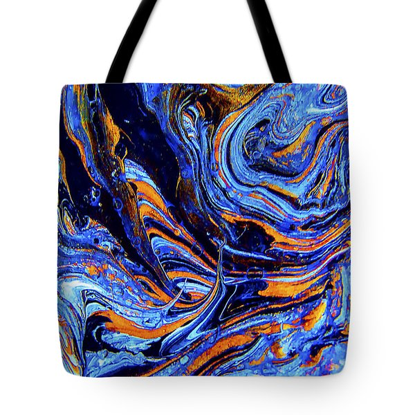 Life Flowing -abstract Acrylic Painting-mix Media #2 Tote Bag by Renee Anderson