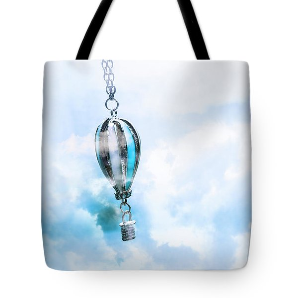 Abstract Air Baloon Hanging On Chain Tote Bag