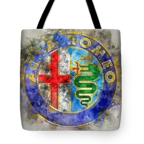 Abstract Alfa  Tote Bag