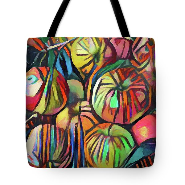 Abstract Apples Tote Bag