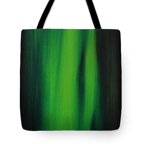 Abstract Art Colorful Original Painting Winter Passion - Green By Madart Tote Bag by Megan Duncanson
