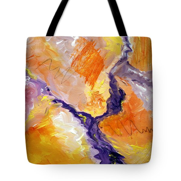 Abstract Art - Fire River Tote Bag by Karyn Robinson