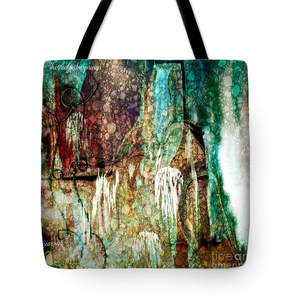 Tote Bag featuring the painting Abstract Art  From Water To Wine Sherri Of Palm Springs by Sherri  Of Palm Springs
