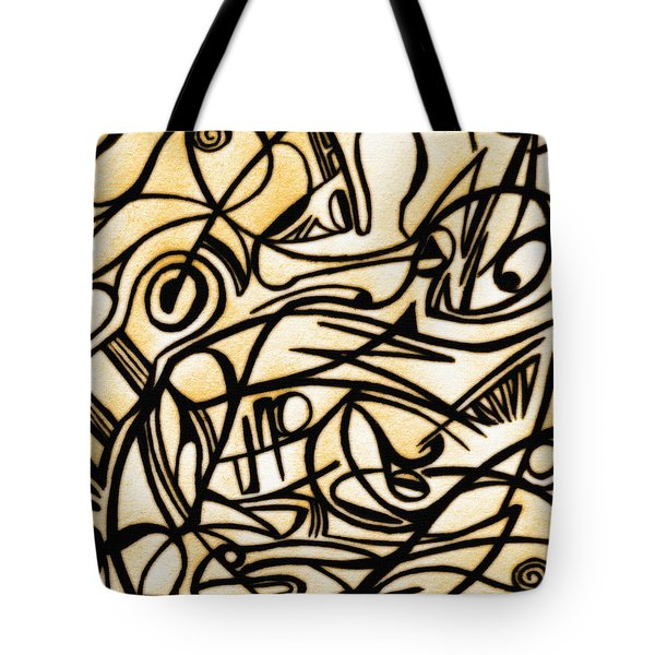 Abstract Art Gold 2 Tote Bag