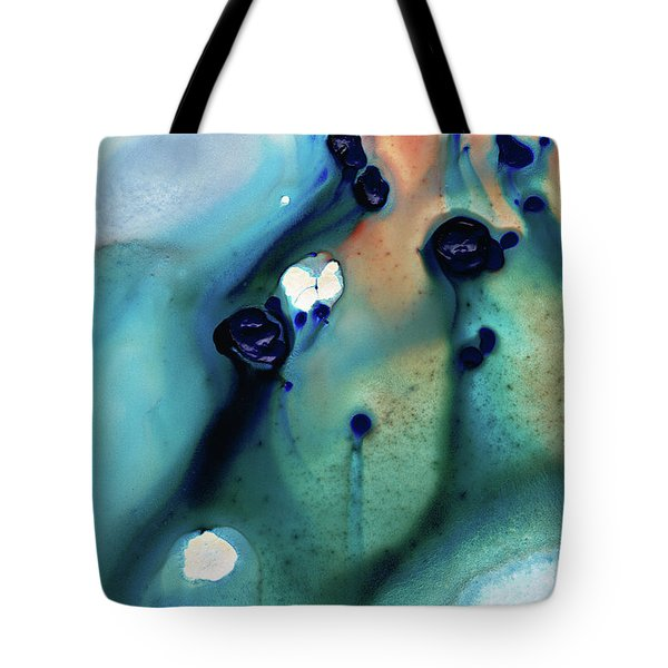 Tote Bag featuring the painting Abstract Art - Hands To Heaven - Sharon Cummings by Sharon Cummings