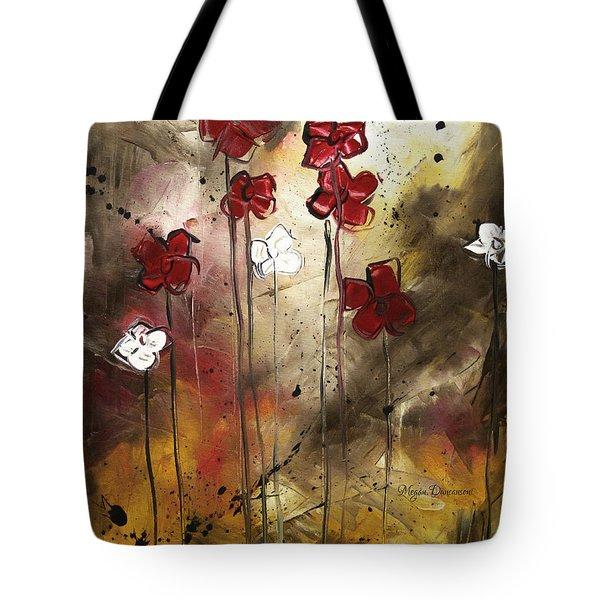 Abstract Art Original Flower Painting Floral Arrangement By Madart Tote Bag