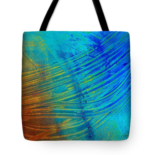 Abstract Art  Painting Freefall By Ann Powell Tote Bag