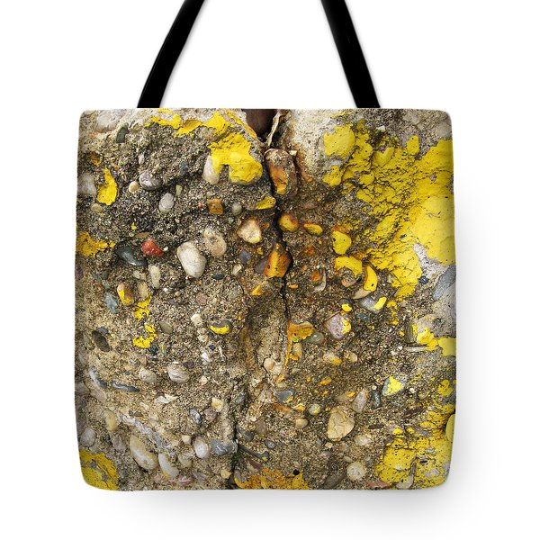 Abstract Art Seen In Parking Lot Tote Bag by Sandra Church