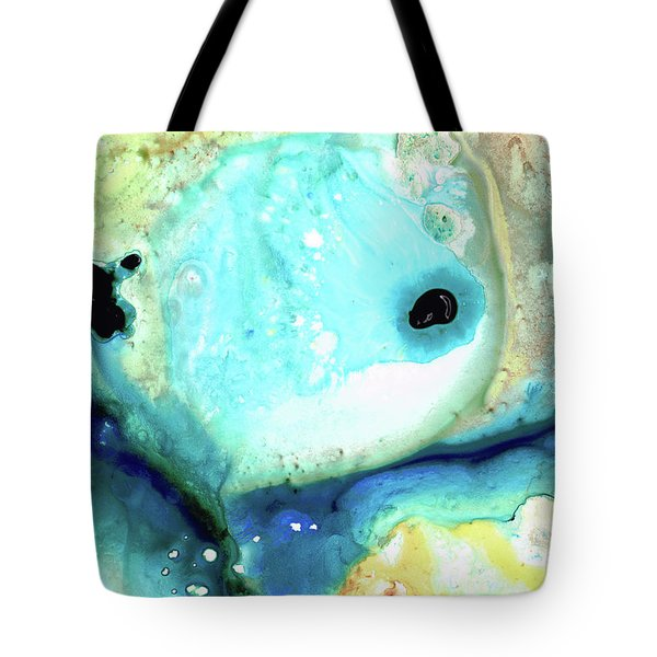 Abstract Art - Holding On - Sharon Cummings Tote Bag by Sharon Cummings