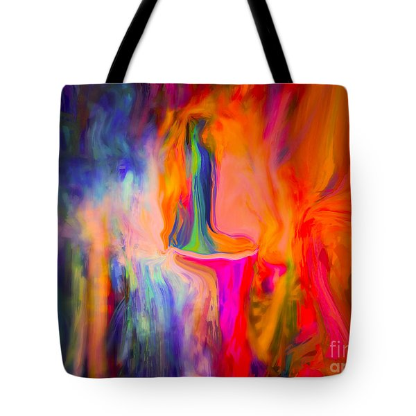 Abstract Art  Waiting Tote Bag by Sherri's Of Palm Springs