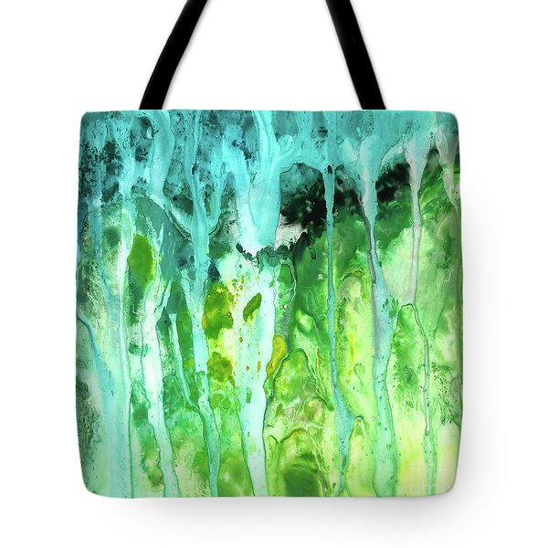 Abstract Art Waterfall Tote Bag by Saribelle Rodriguez