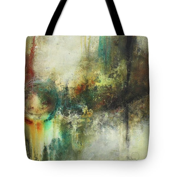 Abstract Art With Blue Green And Warm Tones Tote Bag
