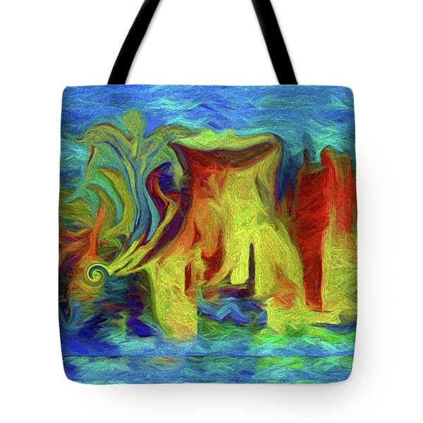 Abstract Artgo With The Flow Tote Bag