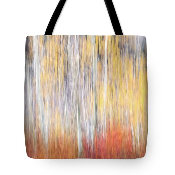 Tote Bag featuring the photograph Abstract Autumn by Laura Roberts