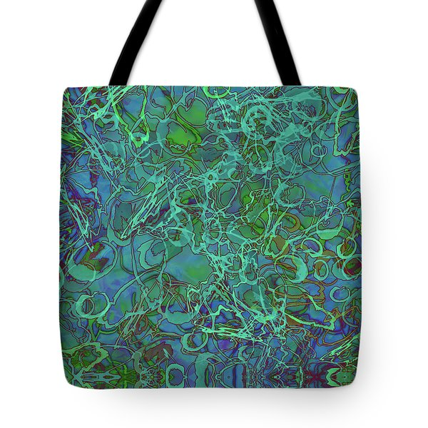 Abstract Azurite Tote Bag