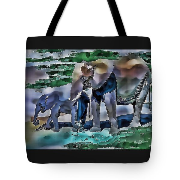 Abstract Baby Elephant  Tote Bag