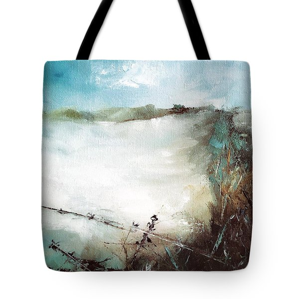 Abstract Barbwire Pasture Landscape Tote Bag