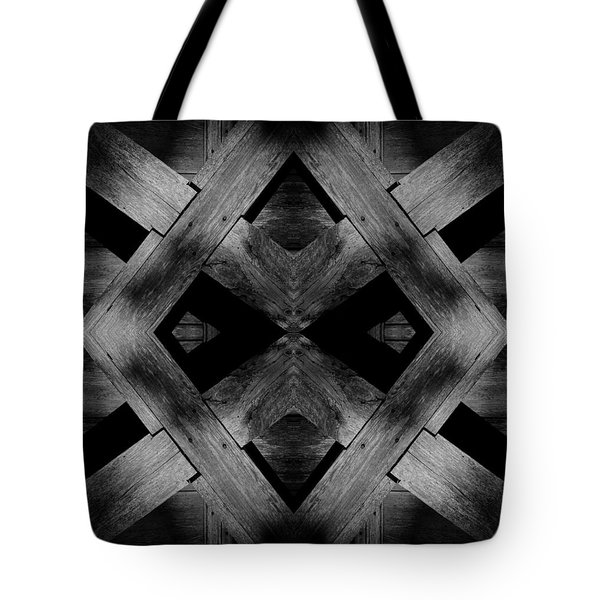 Tote Bag featuring the photograph Abstract Barn Wood by Chris Berry
