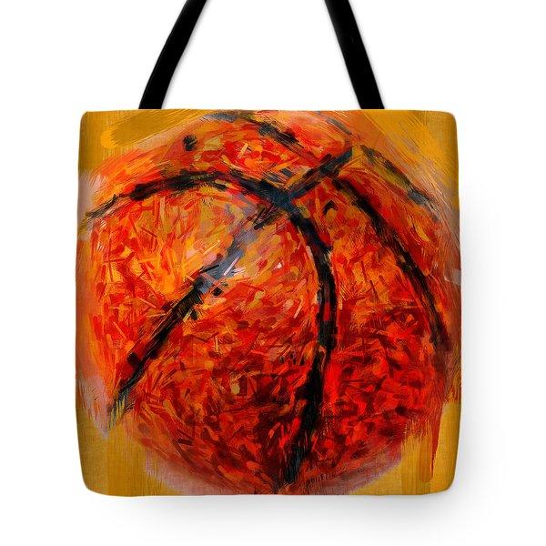 Abstract Basketball Tote Bag