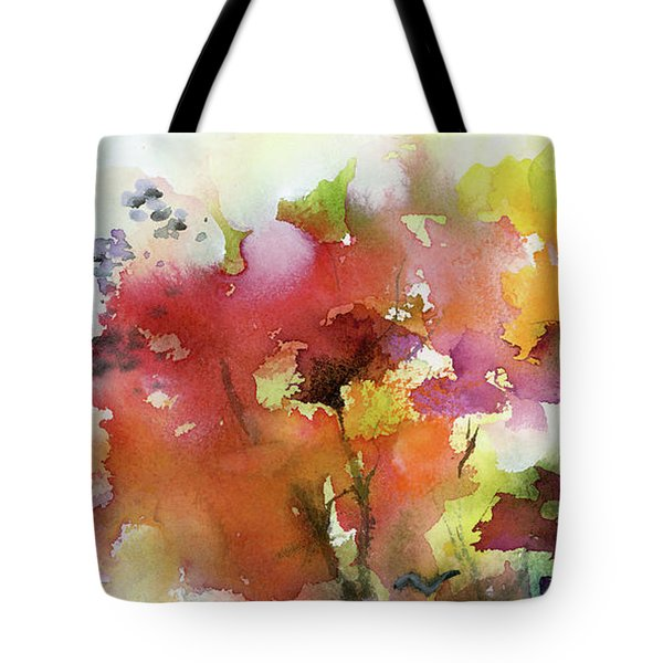 Abstract Bird Migration Autumn Tree Tops Tote Bag