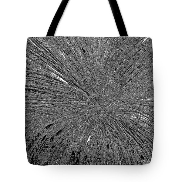 Tote Bag featuring the painting Abstract Black And White A182516 by Mas Art Studio