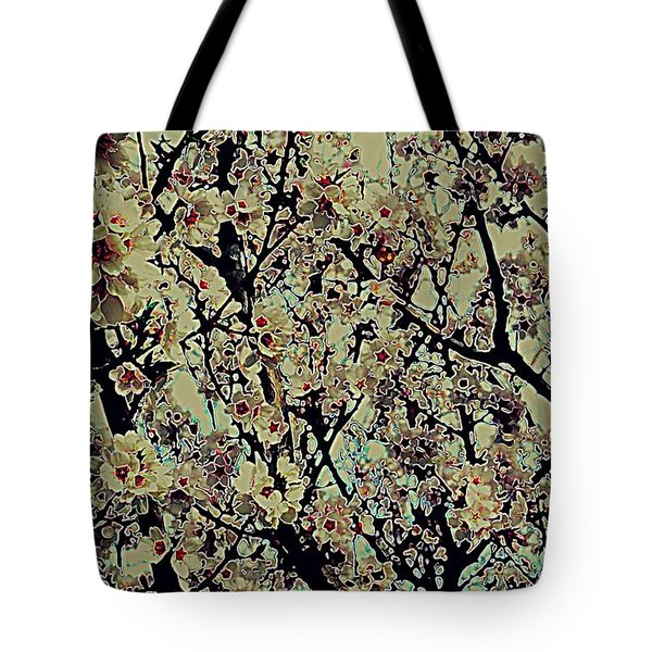 Abstract Blossoms Tote Bag