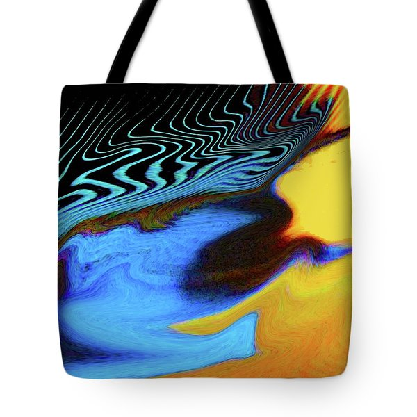 Abstract Blue Bird Feather Tote Bag