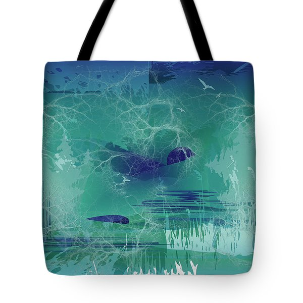 Abstract Blue Green Tote Bag