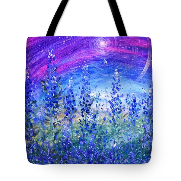 Abstract Bluebonnets Tote Bag