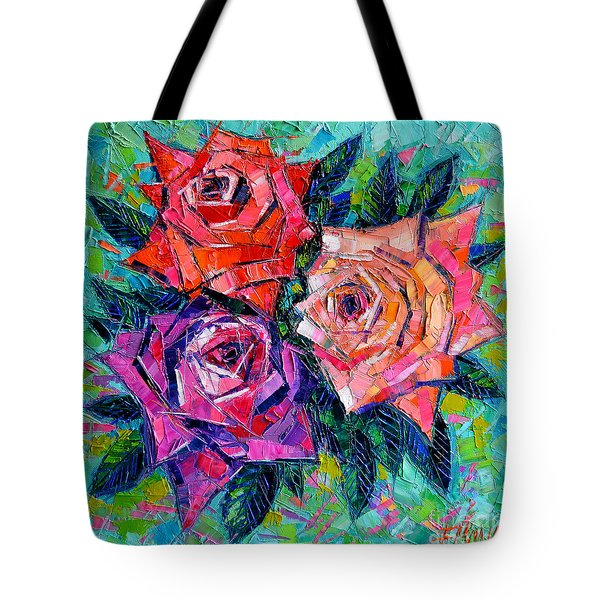 Abstract Bouquet Of Roses Tote Bag