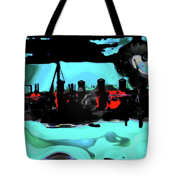 Abstract Bridge Of Lions Tote Bag