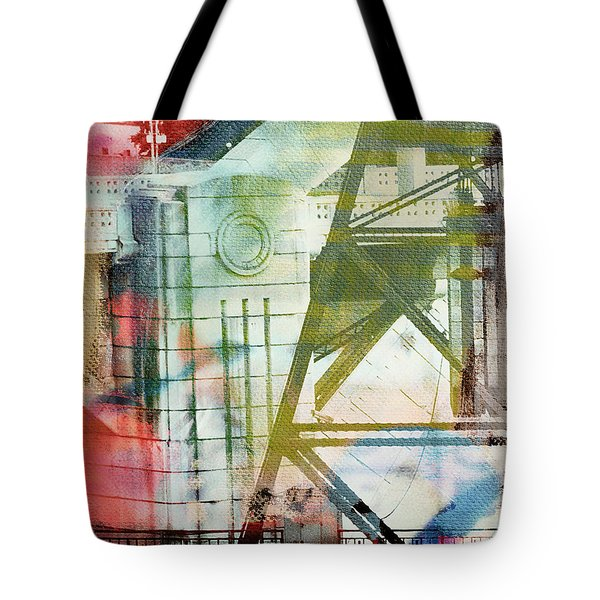 Abstract Bridge With Color Tote Bag
