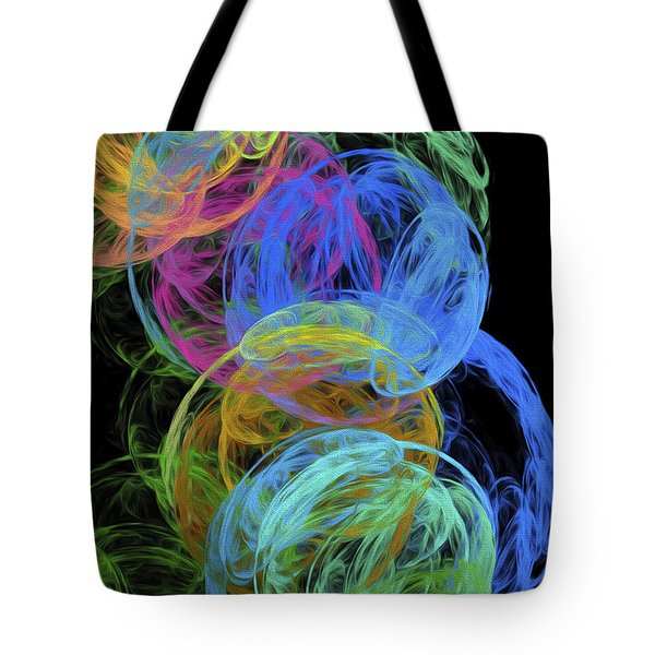 Tote Bag featuring the digital art Abstract Bubbles by Andee Design