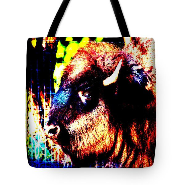 Abstract Buffalo Tote Bag